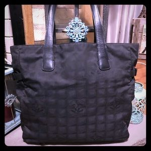 Vintage Chanel Nylon/Leather Tote 100% Authentic
